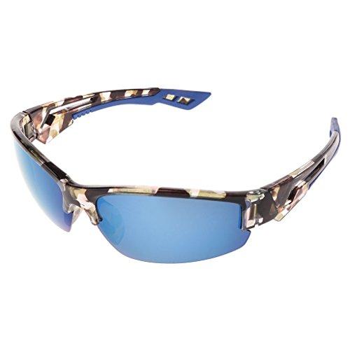 Sonnenbrille für Radfahren, Angeln, Sport, UV400, für Outdoor-Sportarten Einheitsgröße blau camouflage