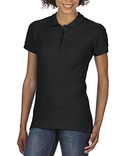 Gildan Damen Poloshirt Premium Cotton Double Piqué Polo/85800L, Einfarbig, Gr. 40 (Herstellergröße: L), Schwarz (Black 36)
