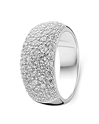 Ti Sento Rhodium Plated Sterling Silver Ring with Cubic Zirconia Stones-1546ZI