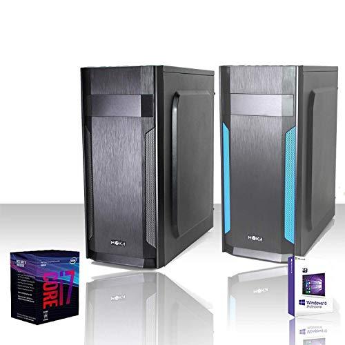GAMMA SSD PC DESKTOP COMPLETO INTEL i7-8700 4.6 GHZ usato  Spedito ovunque in Italia