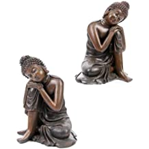 Efecto Madera Cabeza de Buda en la rodilla, 2 Assorted