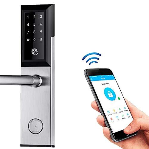 Tarjeta de contraseña de bloqueo de puerta digital teclado táctil Aplicación móvil WiFi Bluetooth...