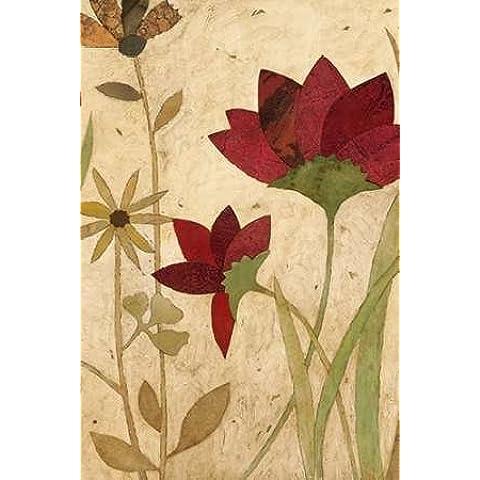 Urban Folk Art II dal Olson, portaoggetti Stampa Giclée su tela, in carta e decorazioni disponibili, Tela, SMALL (4 x 6 Inches ) - Folk Art Wall Hanging