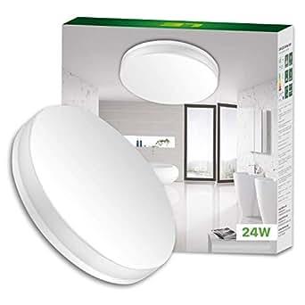lighting ever le 24w kaltwei deckenleuchte wasserfest 2400lm led deckenlampe ideal f r bad. Black Bedroom Furniture Sets. Home Design Ideas