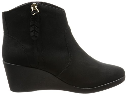 crocs Stiefeletten Leigh Synth Suede Wedge Bootie Black Black