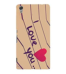 PrintVisa Lovely Quote 3D Hard Polycarbonate Designer Back Case Cover for Sony Xperia C6