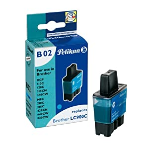 Pelikan B02 - Print cartridge ( replaces Brother LC900C ) - 1 x cyan - 250 pages