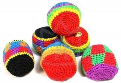 24 Stück Kickball, 5,5 cm, Jonglierball, Knetball, Antistressball, mit Strickbezug, Sportball, Spielball, Mitgebsel, Mitbringsel, Geschenk
