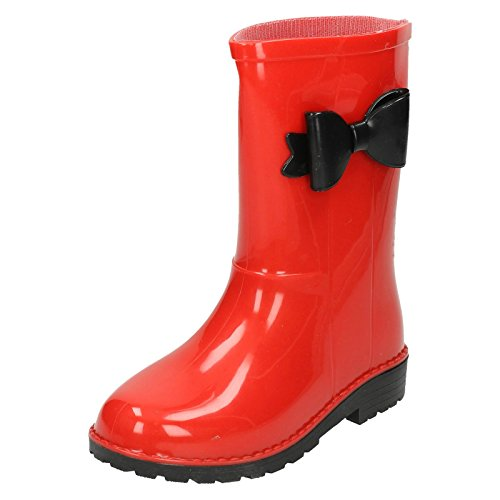 Girls Spot On Bow Detail Wellington Boots