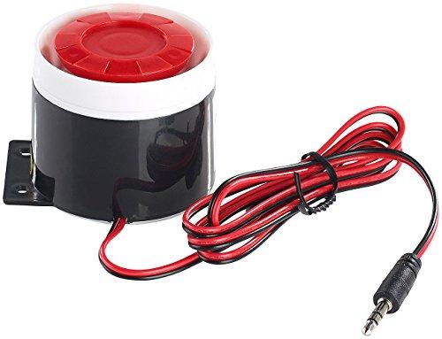 VisorTech Zubehör zu Alarmanlage Gartenhaus: 110-dB-Sirene mit Kabel, für Alarmanlage XMD-4200/4400.pro/5400.WiFi (Alarmanlage mit Telefon-Alarmruf)