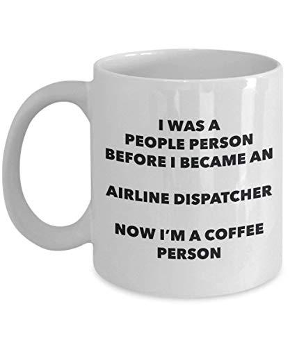 Mike21Browne Airline Dispatcher Kaffee Person Becher Lustige Tee Kakao Tasse Geburtstag Weihnachten Kaffee Liebhaber Niedlichen Gag Geschenke Idee