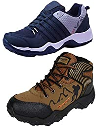 Chevit Men's Combo Pack of 2 Sports Shoes (Running Shoes)