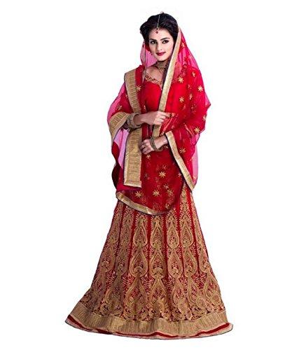 21st Fashion Women's Net Red Lehenga Choli ( RedPatali21st )