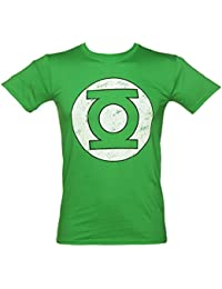 Tshirt homme DC Comics Green Lantern logo effet us vert