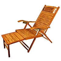 Recliners Beach Chair Sun Lounger Garden Chair Office Folding Lunch Chair Outdoor Portable Chair Home Leisure Chair Can Bear 200 Kg (Color : Wood color, Size : 42 * 164cm)