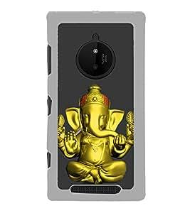 Fiobs Gold Ganapati Ganesh Ganesha Designer Back Case Cover For Nokia Lumia 830