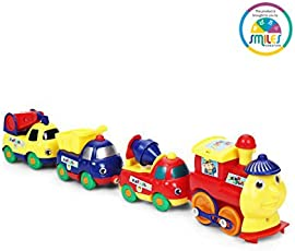Smiles Creation Cute Cartoon Truck Set Toy for Kids (4 Pieces)