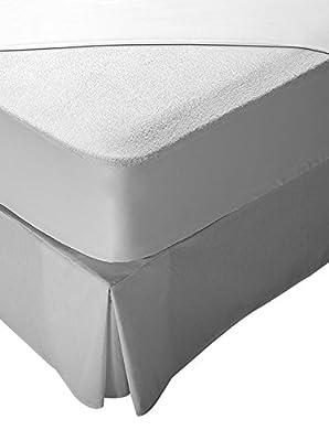 Pikolin Home - Protector de colchón de cuna, tejido rizo, 100% algodón, impermeable y transpirable