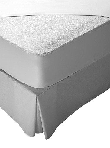 Pikolin Home - Protector de colchón de cuna, tejido rizo, 100% algodón, impermeable y transpirable, 60 x 120 cm