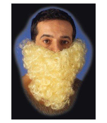 Accessorio barba media bionda per carnevale maschere travestimento uomo