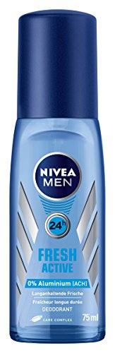 Nivea Men Deo Fresh Active Zerstäuber, ohne Aluminium, 6er Pack (6 x 75 ml)