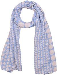 KUNDU GARMENTS Women's Cotton Dupatta (Sky Blue & White)