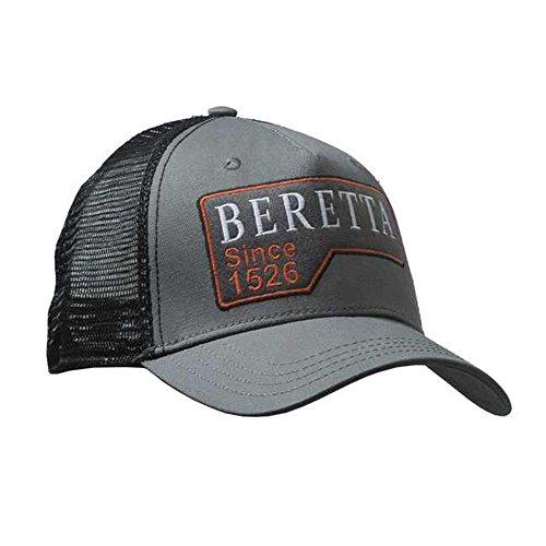 Beretta Victory Corporate Mesh Baseball Cap Black & Grey Hat Shoot BT041-0903