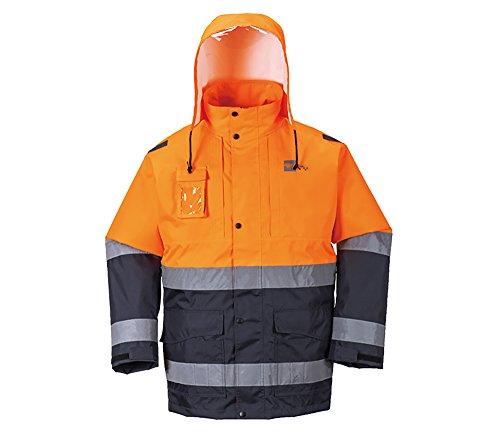 Hochsichtbare Sicherheitsjacke mit Kaputze, EPI Jacke (Individuelle Sicherheitsbekleidung) – Unisex – Orange - L
