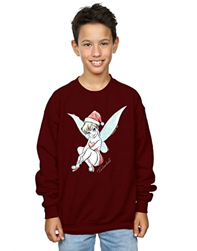 Disney Jungen Tinkerbell Christmas Fairy Sweatshirt 5-6 Years Burgund -