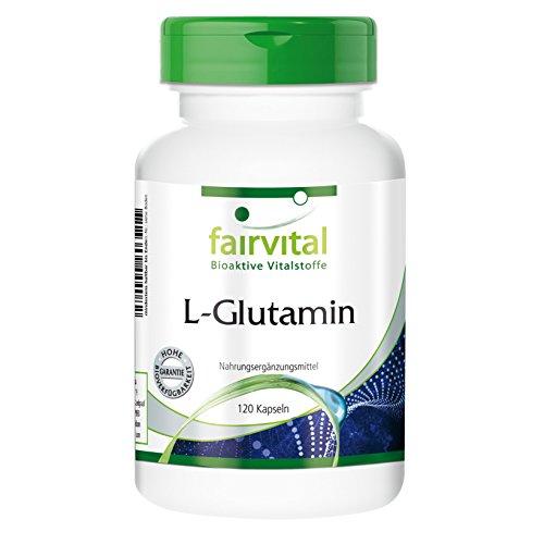 L-Glutamin 750mg - freie Form - bioverfügbar - 120 Kapseln - Reinsubstanz