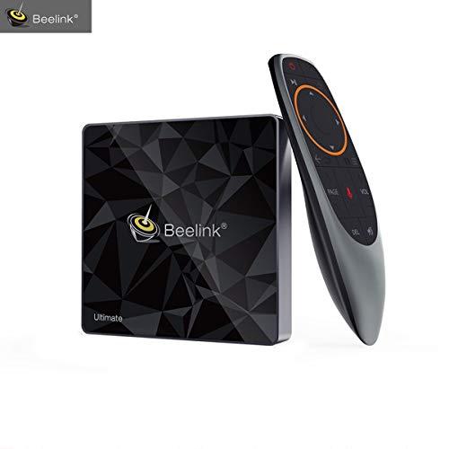 Beelink GT1-A TV Box,Netflix Soutien,Google Certifiée,Android 7.1,RAM 3 Go+ROM 32 Go,Processeur Amlogic CPU S-912 Octa Core Arm Cortex-A53,WiFi 2.4G/5.8G 1000M,4K,H.265,OTG,Couleur Noire