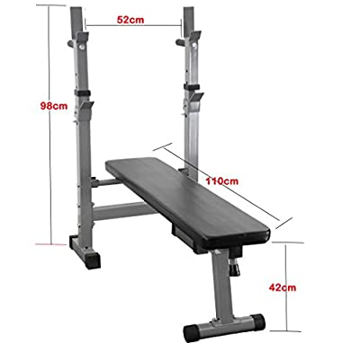 Weight Bench Folding Adjustable Gym Fitness Bench Exercise Training Bench with dip station by UK Fitness