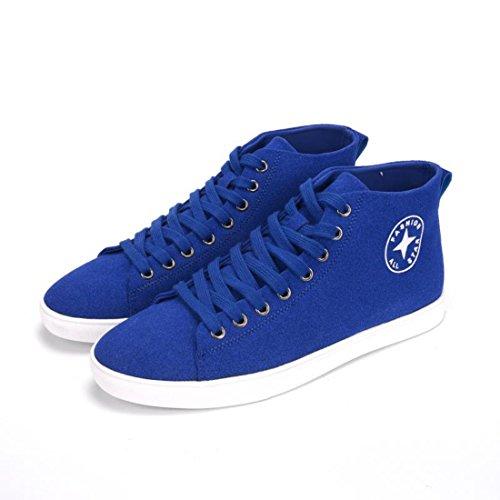 Men's Classic Style Flat Anti Slip Skateboarding Shoes blue