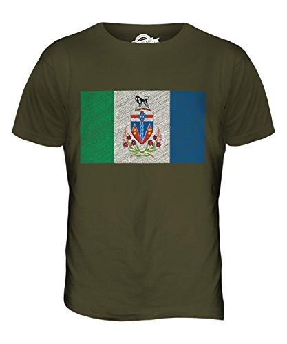 CandyMix Yukon Kritzelte Flagge Herren T Shirt Khaki Grün