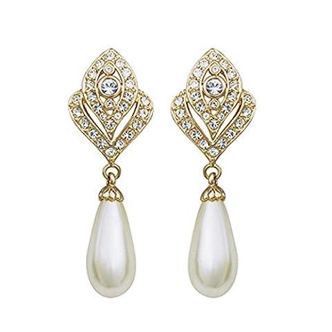 ZPXLGW Keine Durchbohrten Ohren Voll Von Diamantbohrungen Perlenohrclips,Gold-L