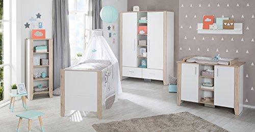 roba Komplett-Kinderzimmer 'Sam', Babyzimmer Set weiß/San Remo Eiche inkl. Baby- bzw. Kinderbett...