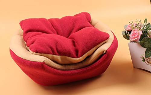 Haustier Katze Bett Haus faltbar extrem weich warm pflegeleicht Deluxe Welpen Schlafmatte Cave Nest Decke -
