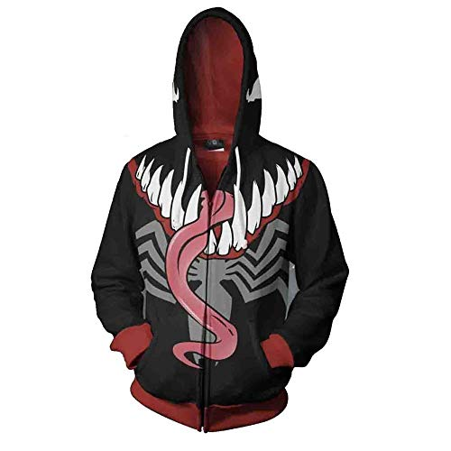 Iron Cosplay Fist Kostüm - Dwygx Unisex Hd 3D Druck Anime Printingsweatshirts Hooded Fashion Freizeitjacke Coat Cardigan Iron Fist Sweatshirt M