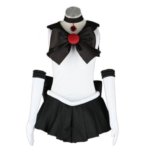Dream2Reality japanische Anime Sailor Moon Cosplay Kostuem -Sailor Pluto Setsuna Meioh 1st Ver Fighting Large