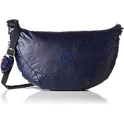 Kipling - Nille, Shoppers y bolsos de hombro Mujer, Blau (Lacquer Indigo), 48x30x0.1 cm (B x H T)