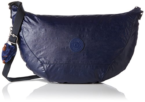 Kipling Damen NILLE Schultertasche, Blau (Lacquer Indigo), 48x30x8 cm