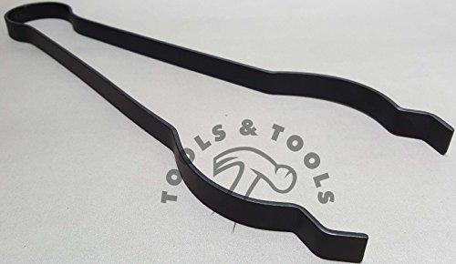 Bauchzange / Tiegelzange, 38cm lang, für Schmelztiegel mit 10cm Durchmesser geeignet