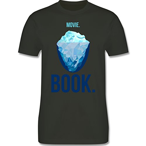 Nerds & Geeks - Movie vs Book - Herren Premium T-Shirt Army Grün