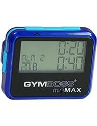 Gymboss miniMAX Minuteur d'intervalle et chronomètre – COQUE BRILLANT BLEU / BLEU
