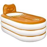 YGR yugang yupen Europäische aufblasbare Badewanne Erwachsenen Falten Kunststoffwanne Badewanne Erwachsenen Badewanne Fass Badewanne Fassgröße 152 cm * 85 cm * 75 cm, elektrische Pumpe (Farbe : B)