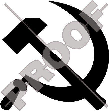 Hammer & Sichel sowjetischen Kommunistische 10,2cm (100mm) Vinyl Bumper Aufkleber, Aufkleber–22Farben zur Auswahl