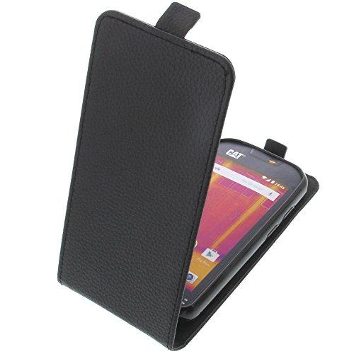 foto-kontor Tasche für CAT S60 Smartphone Flipstyle Schutz Hülle schwarz