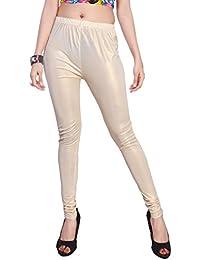 Comix Women Shimmer Fabric Comfort Fit Ankle Length Plain Leggings