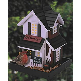 ARBORIA birds house, Wooden Bird Houses Birdbox Nesting Box Feeder Robin Sparrow Hanging Boxes Irish Pub Shamrock Ireland