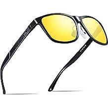 ATTCL Hombre Gafas de sol Polarizado Al-Mg Metal Super Ligero Marco 35b179dc238e